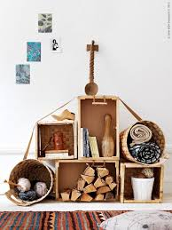 Crates Are Perfect To Create Rough Looking Rustic Modular Storage Systems Besides