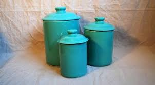 turquoise kitchen canisters decorating clear