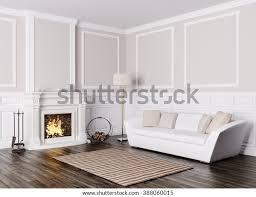 klassische innenausstattung wohnzimmer mit weißem sofa