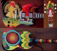 The Famous Psychedelic SG Or Fool Guitar These Shots Were Taken While It Was In Possession Of Jackie Lomax Possibly Immediately After Todd