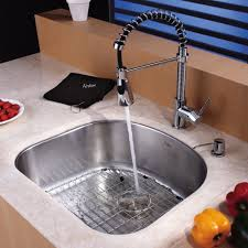 Kraus Sinks Kitchen Sink by Sinks Faucets Enchanting Chrome Finish Pulldown Kitchen Faucet
