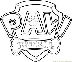 Paw Patrol Logo Coloring Page