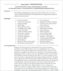 Retired Police Officer Resume Examples Chief
