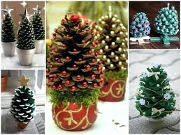 How To Make Beautiful Pine Cone Tree Decorations Step By Tutorial Decorate Cones Decorating For Christmas Martha Stewart Trees