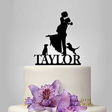 Cake Topper Garden Theme Classic Rustic Couple Acrylic Wedding Anniversary Bridal Shower With OPP 5823764 2018 899