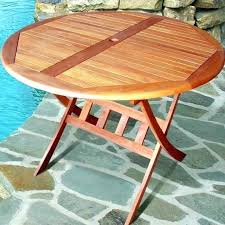 Wooden Outside Table Round Wood Outdoor Unique Patio