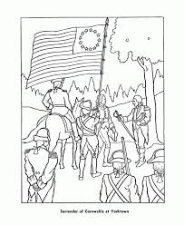 War Coloring Pages Regarding American Revolutionary