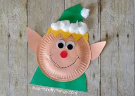Paper Plate Christmas Elf Craft