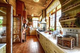 rustic cabin kitchen ideas log lighting design pictures