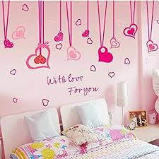 wandaufkleber wandaufkleber motiv rote herzen mit löchern für wohnzimmer schlafzimmer kinderzimmer fußböden valentinstags dekoration rot