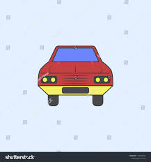 Car Front Field Outline Icon Element Stock Vector (Royalty Free ...