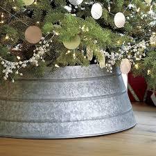 White Christmas Tree Skirt Walmart by Best 25 Galvanized Tree Collar Ideas On Pinterest Tree Collar