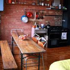 Narrow Kitchen Table With Bench Ohio Trm Furniture
