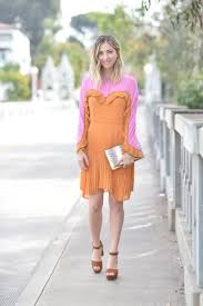 Cupcakes And Cashmere Blogger Dress Bag Shoes Spring Outfits Orange Sandals Clutch