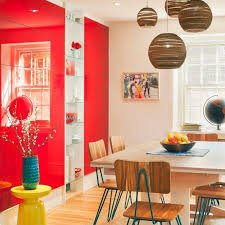 20 Fab Red Accent Walls In Dining Rooms Home Design Lover On