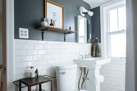 Best Paint Colors For Small Bathrooms | Apartment Therapy Attractive Color Ideas For Bathroom Walls With Paint What To Wall Colors Exceptional Modern Your Designs Painted Blue Small Edesign An Almond Gets A Fresh Colour Bathrooms And Trim Match Best 9067 Wonderful Using Olive Green Dulux Youtube Inspiration Benjamin Moore 10 Ways To Add Into Design Freshecom The For