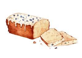 Watercolour Cake Food illustration