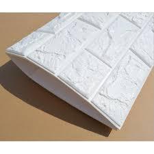 3D Wallpaper Brick Design Foam DIY Home Decor Self Adhesive Peel Stick 10mm Thick