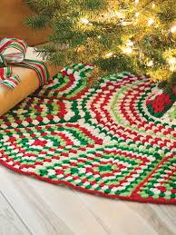 Crochet Christmas Tree Skirts Afghans And More With Granny Square Patterns