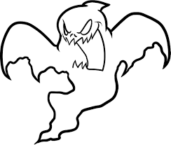 Ghost Coloring Pages Free Printable For Kids Gallery Ideas