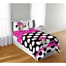disney minnie mouse dots are the new black twin full bedding