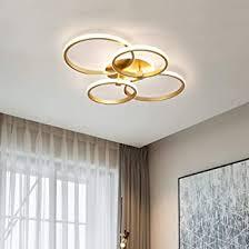 deckenle schlafzimmer wohnzimmerle modern rund ring design gold led dimmbar büro esszimmer badezimmer flurle fernbedienung decken