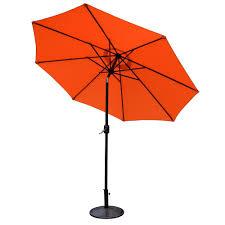 Tilt Patio Umbrella With Lights by 9 Ft Tilting Patio Umbrella With Cool Led Lights In Striped Khaki