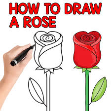 How To Draw A Rose Step By For Kids And Beginners