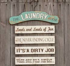 Wooden Laundry Its A Dirty Job Sign