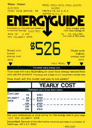 To Estimate Your Familys Annual Water Heating Expense Use The EnergyGuide Label Attached Heater Monthly