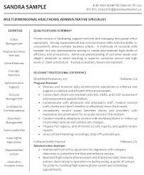 Healthcare Resume Examples Health Medical Assistant 2016