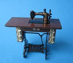 edle nähmaschine puppenhausmöbel wohnzimmer miniaturen 1 12