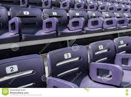 Deluxe Stadium Chair With Arms by Purple Stadium Seats Close Up Stock Photo Image 73222249