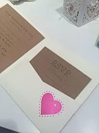 Rustic Pocketfold Handmade Wedding Invitation