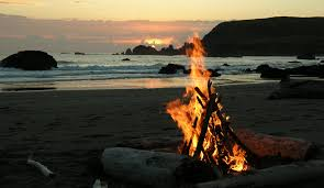 California Beach Bonfires