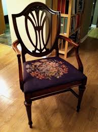 Plastic Seat Covers For Dining Room Chairs by Diy Antique Needlework Chair Protectors Townhomestead