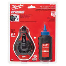 Milwaukee 100 Ft. Bold Line Chalk Reel Kit With Blue Chalk-48-22 ...