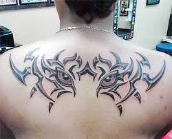 Tribal Back Tattoo Design For Men