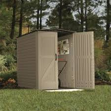Rubbermaid Roughneck 7x7 Storage Shed by Rubbermaid Roughneck Slide Lid Gable Storage Shed Common 5 Ft X