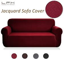 US $27.04 39% OFF|LFH Stretch Slipcovers Furniture Protector With Elastic  Red Color Spandex Jacquard Fabric Futon Sofa Cover Chair Loveseat Cover-in  ...