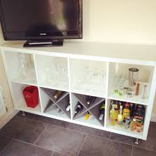 Pantry Cabinet Ikea Hack by Home Bar Made From Ikea Kallax Legs Added On Homebar Ikeahack