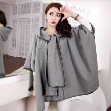 2016 Fashion Designer Winter Coats Women Korean Autumn Spring Retro Cloak Woolen Long Shawl Cape Camel Coat Wool Female Outerwear