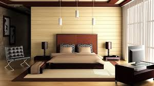 Astounding Modern Colonial House Design Interior Symmetrical Master Bedroom With King Low Profile Platform Bed Wooden Decoration Ideas