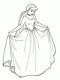 Princesse Disney Coloriage Cendrillon À Imprimer Et Colorier à