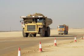 100 Dump Truck Drivers Mining Site Coal Board Bowen Basin QLD