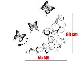 DIY Black Butterfly Decorative Interior Decor Decal Wall Paper Art Sticker