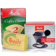 Melitta Coffee Maker Single Cup Pour Over Brewer With Natural Brown Cone Filters