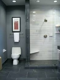 Gray And White Bathroom Tile Popular Grey Slate Floor Tiles Ideas Pictures Within With Grout