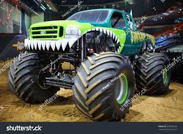 100 Monster Truck Shows 2014 MOSCOW RUSSIA MAR 29 Green Stock Photo Edit Now 239999128