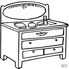 Click The Little Table With Mirror Coloring